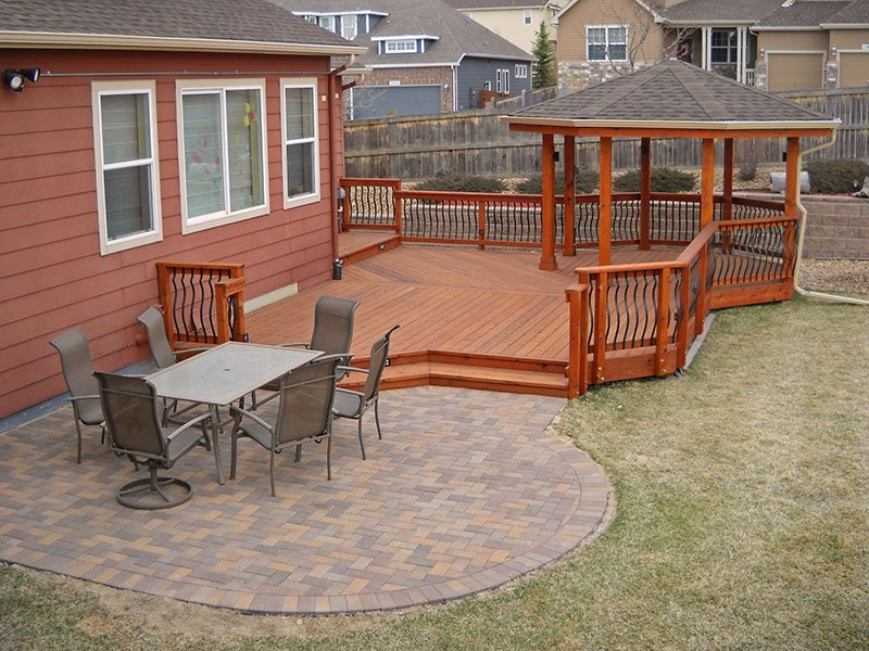 Deck & Patio Combinations - DeckTec Outdoor Designs on Deck And Paver Patio Ideas id=20543
