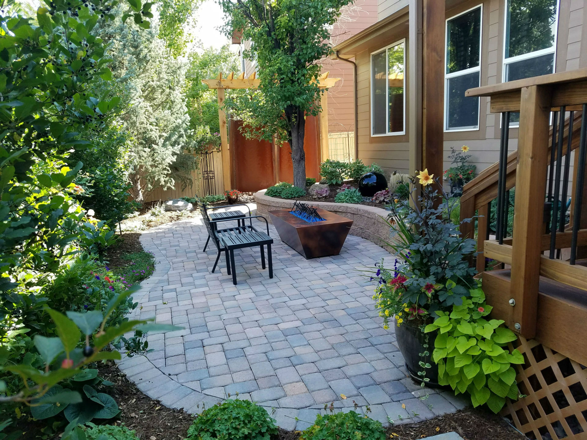 Deck & Patio Combinations - DeckTec Outdoor Designs on Patio With Deck Ideas id=55708