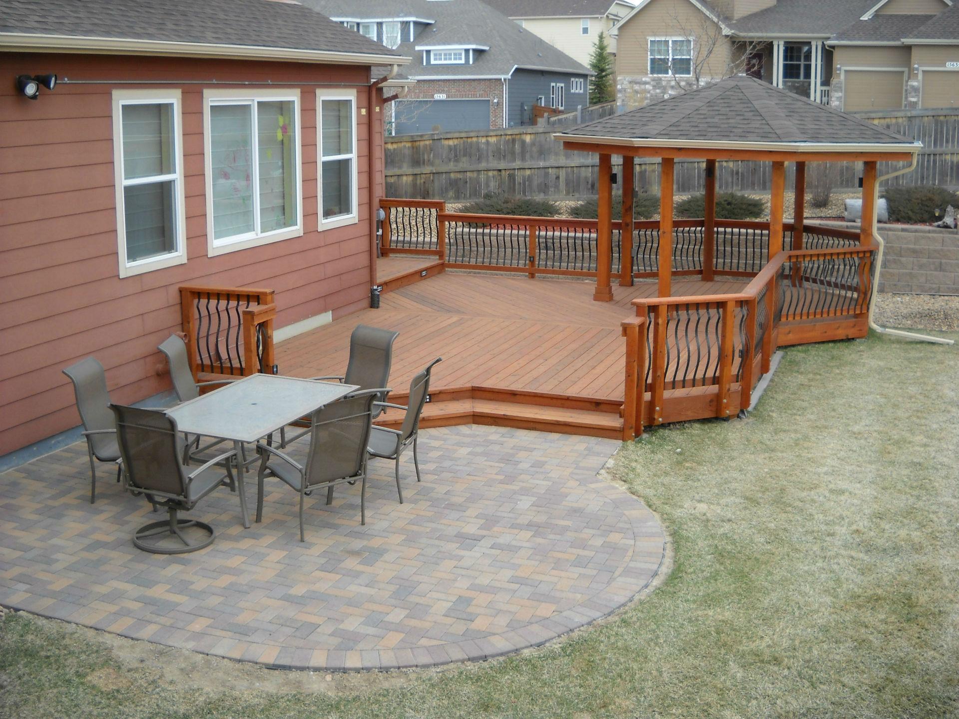 Deck & Patio Combinations - DeckTec Outdoor Designs on Backyard Porch Ideas  id=58105