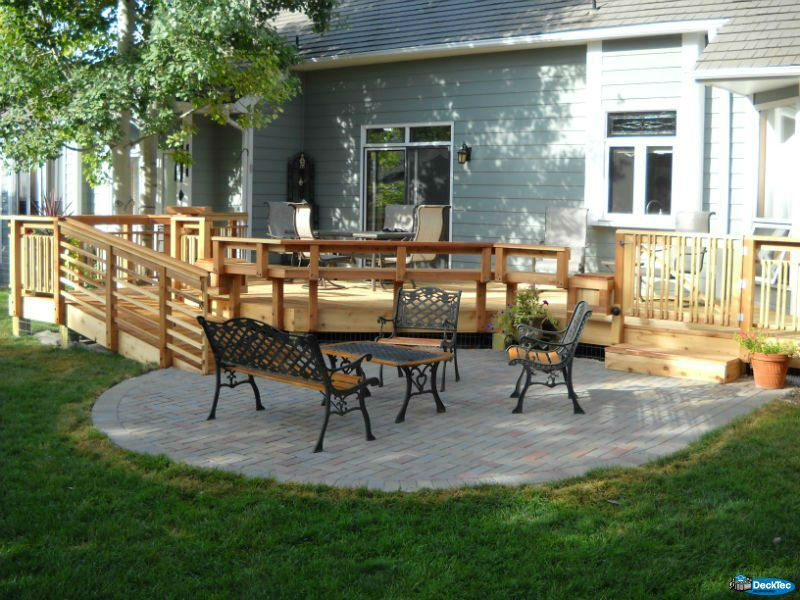 Deck & Patio Combinations - DeckTec Outdoor Designs on Patio With Deck Ideas id=92967