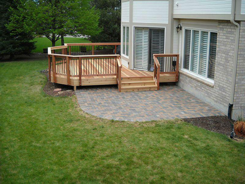 Deck & Patio Combinations - DeckTec Outdoor Designs on Backyard Porch Ideas  id=21743