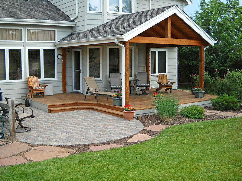 Deck & Patio Combinations - DeckTec Outdoor Designs on Patio With Deck Ideas id=37960