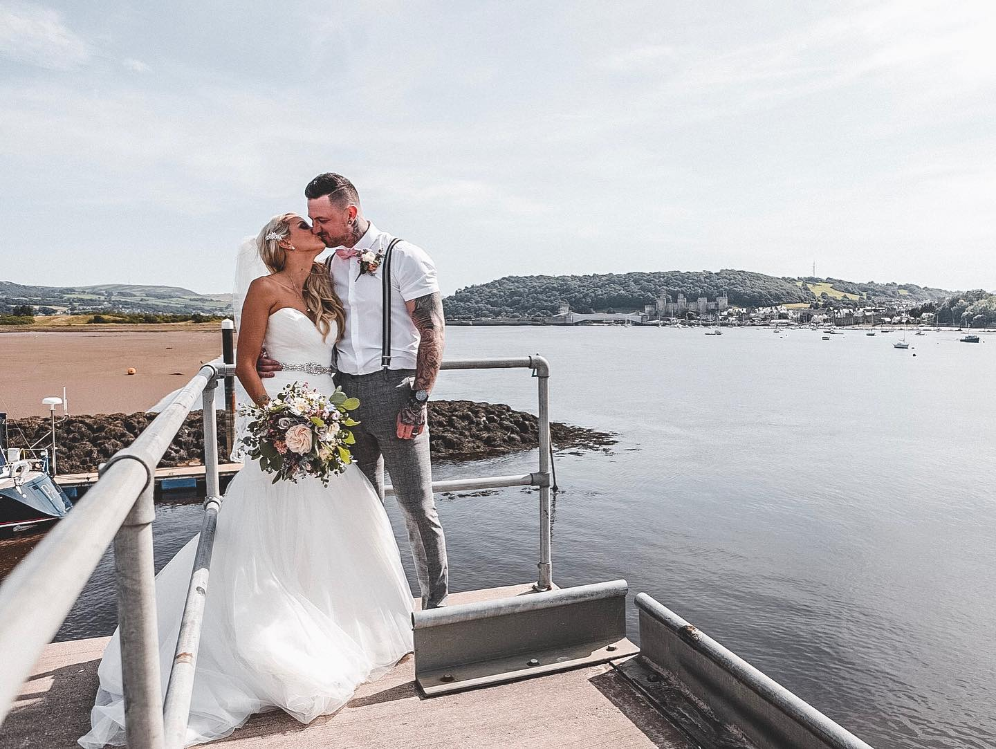 declan west photography image of bride and groom in deganwy