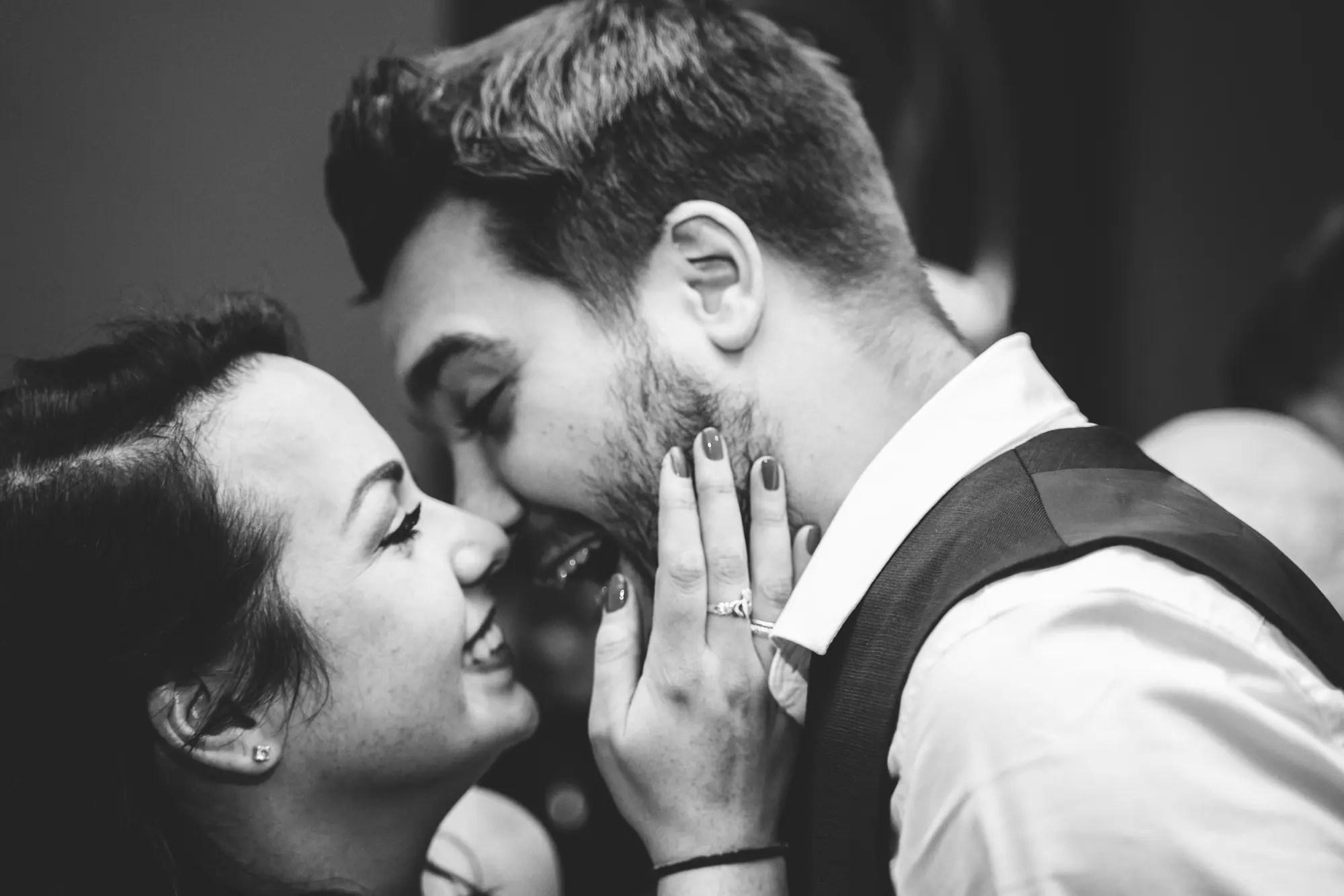Declan west photography - engagement party photographer - cute kiss