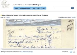 Katyn Forest Massacre Transcription Screenshot