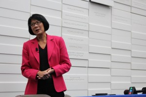 """Olivia Chow tackles the TTC Riders """"debate"""" at Ryerson University solo."""