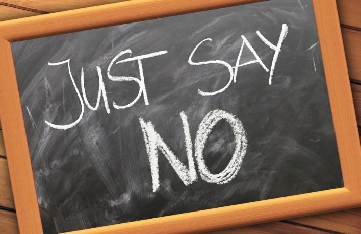 j'ai dit non