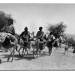 Arrivée au marché d'Hombori, noir et blanc, argentique, Devals