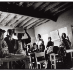 Classe de Fatim, Mali, clichés noir et blanc argentique, Jean-Pierre Devals