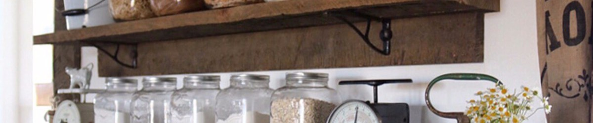 Declutter Your Kitchen –  DIY Shelves To Organize a Country Kitchen