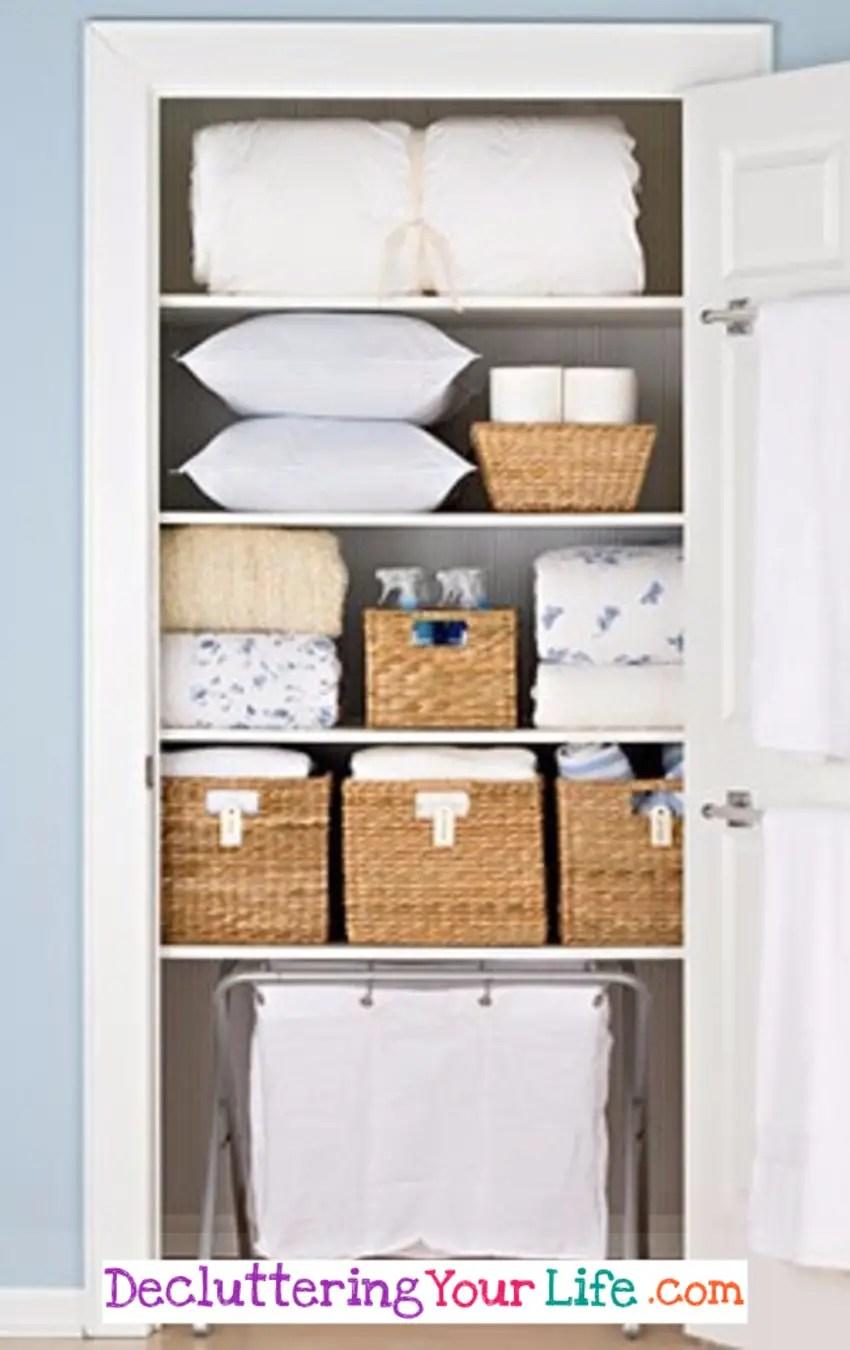 DIY Linen Closet Decluttering and Organization Ideas