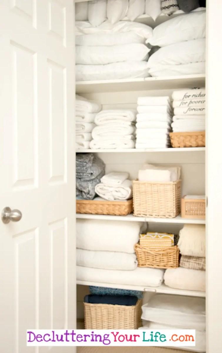 DIY Linen CLoset Organization Ideas for a Neat and Clutter-Free Linen Closet