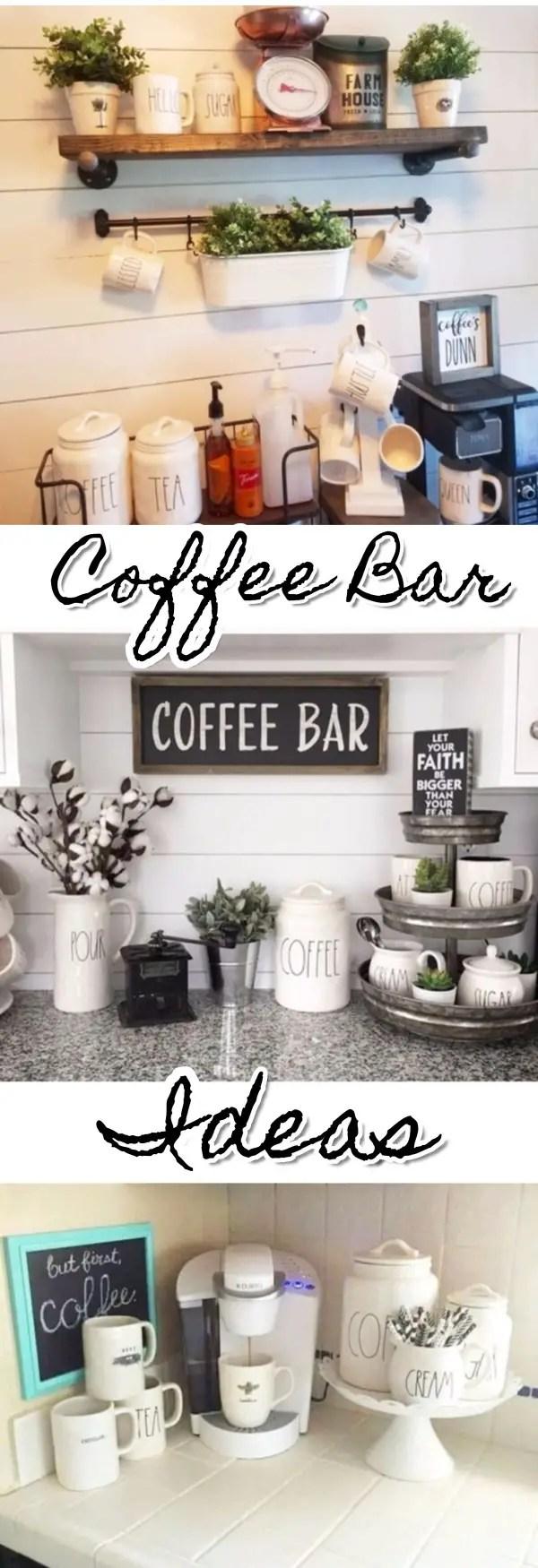 Coffee bar set up and organization ideas