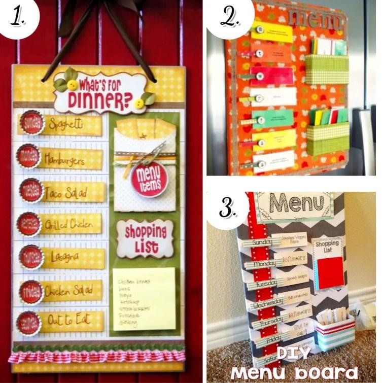 DIY meal planning boards