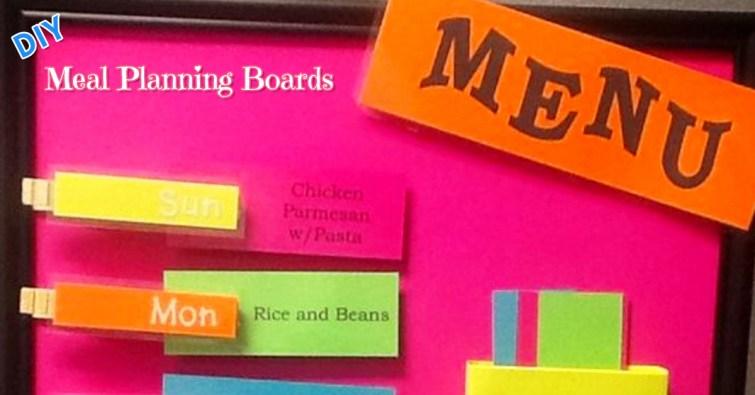 DIY weekly meal planner board ideas
