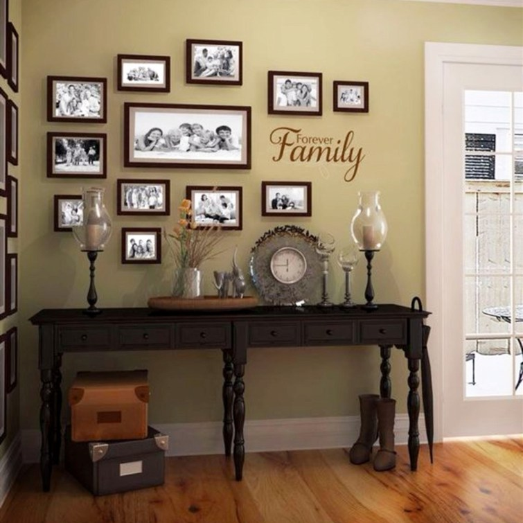 Gorgeous corner gallery wall idea - love how the pictures wrap around the corner yet still look organized