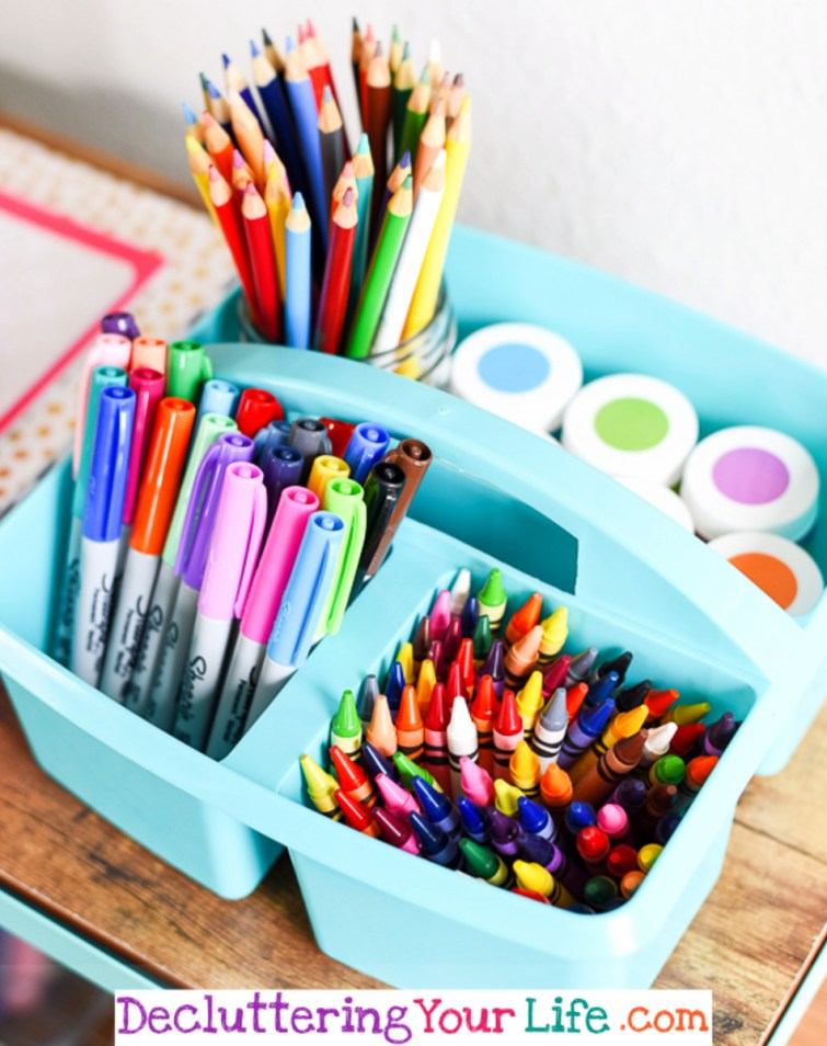 Dollar Store Crafts Organization #getorganized #gettingorganized #organizationideasforthehome #diyhomedecor #organizingideas #cleaninghacks #lifehacks #diyideas