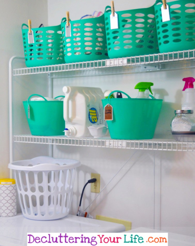 Laundry Room Dollar Store Organization #getorganized #gettingorganized #organizationideasforthehome #diyhomedecor #organizingideas #cleaninghacks #lifehacks #diyideas