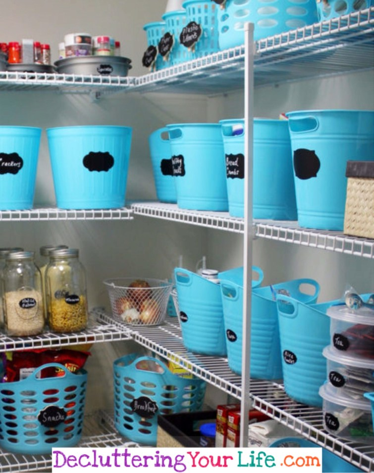 Dollar Store Pantry Organization #getorganized #gettingorganized #organizationideasforthehome #diyhomedecor #organizingideas #cleaninghacks #lifehacks #diyideas