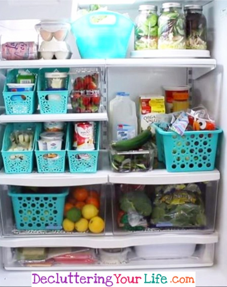Dollar Store Refrigerator Organization #getorganized #gettingorganized #organizationideasforthehome #diyhomedecor #organizingideas #cleaninghacks #lifehacks #diyideas