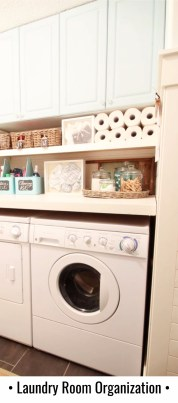 Clever laundry room organizing hack to get more storage space!