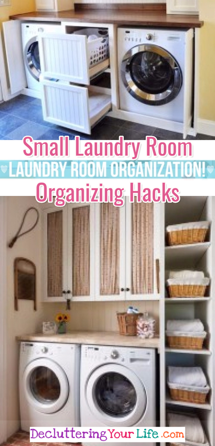 Small laundry room organization hacks, tips and clever ideas