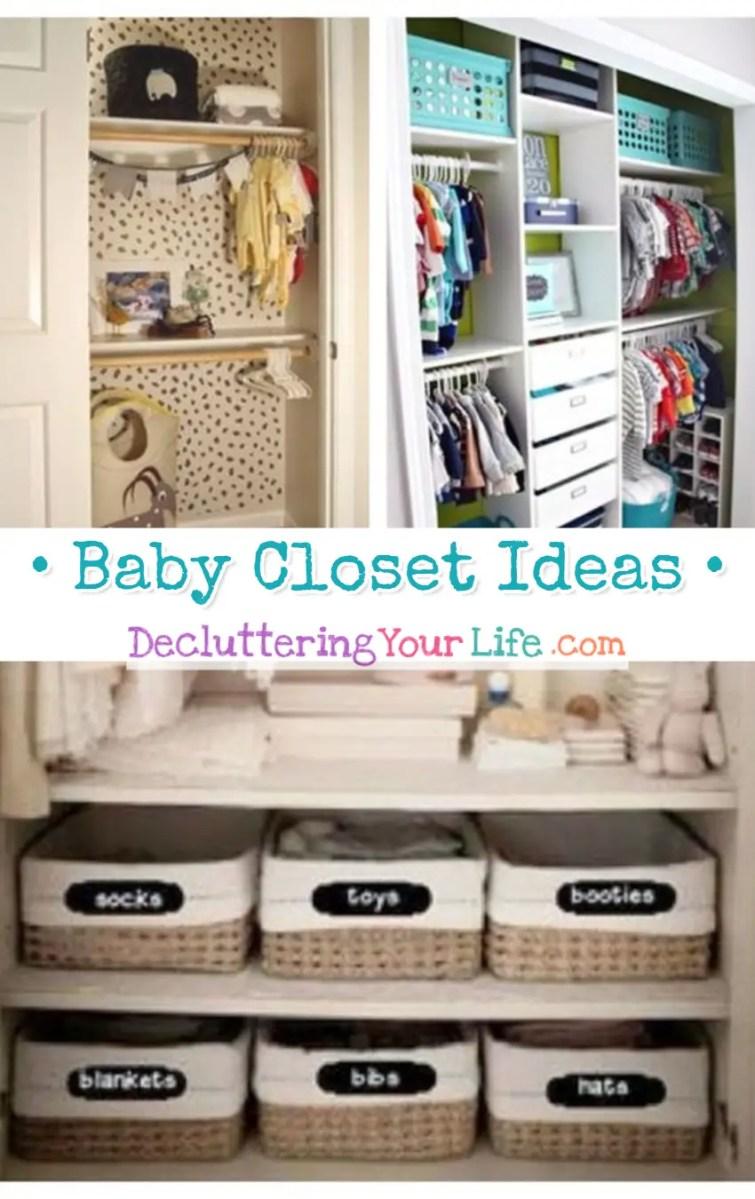 Baby Closet Ideas - EASY DIY organizing ideas for the nursery closet