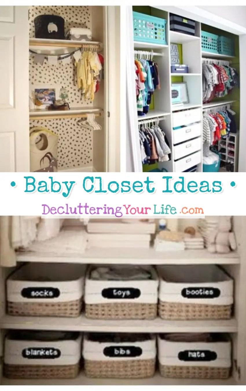 Baby Closet Ideas   EASY DIY Organizing Ideas For The Nursery Closet