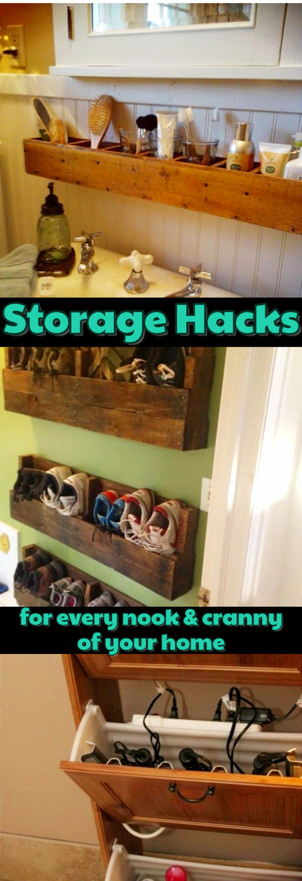 Creative storage ideas for small spaces (apartments, condos, RVs, and small homes)