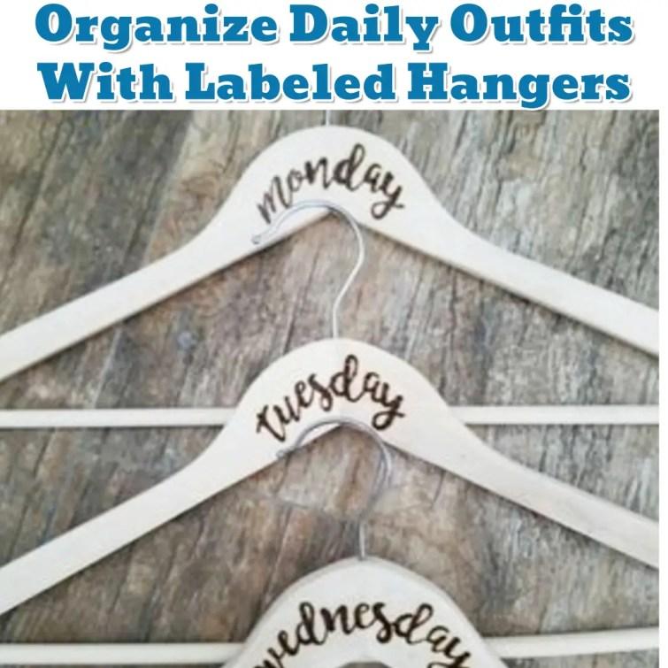 Daily Outfit organization Hack - Getting Organized - 50+ Easy DIY organization Ideas To Help Get Organized