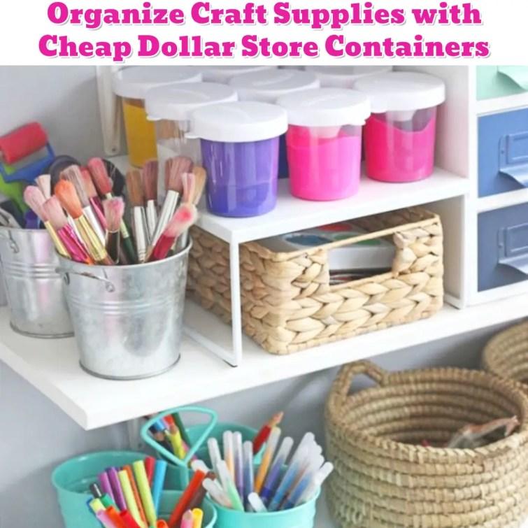Organize Craft Supplies - DIY craft organization ideas - Getting Organized - 50+ Easy DIY organization Ideas To Help Get Organized