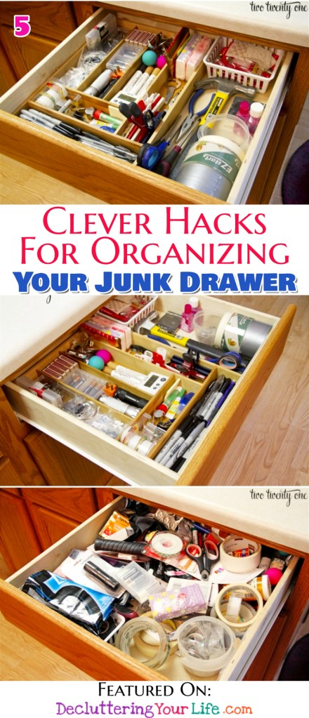Easy Ideas for Organizing Your Junk Drawer (clever junk drawer organizer hacks!)