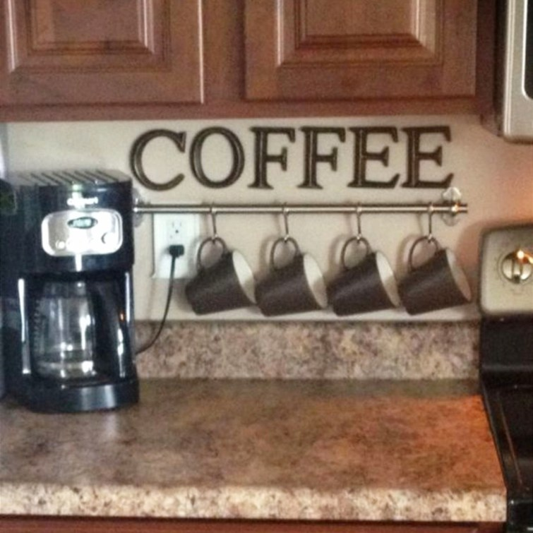 Ideas for setting up a coffee area in a small kitchen