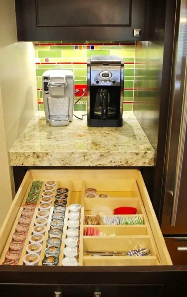 Brilliant coffee area ideas for organizing my kitchen coffee bar