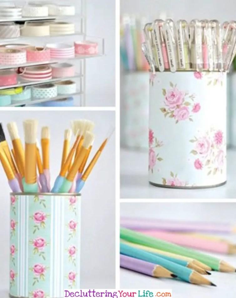Craft Room Ideas On a Budget - Cheap DIY Craft Room Organization Ideas #gettingorganized #goals #organizationideasforthehome