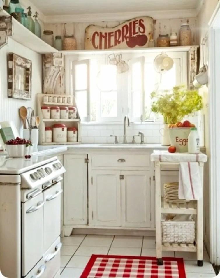 Small shabby chic farmhouse kitchen
