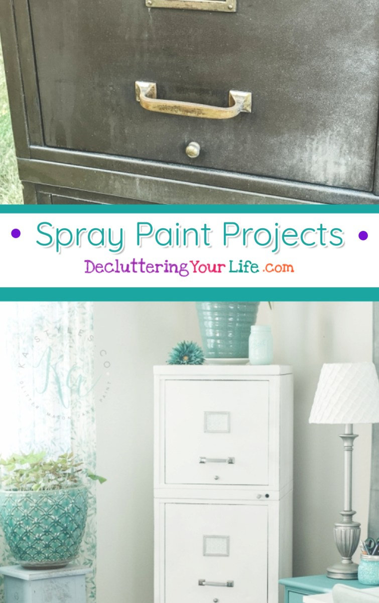 Spray Paint Projects for Organizing on a Budget - Easily transform an old filing cabinet into a beautiful piece of furniture to help you get organized.