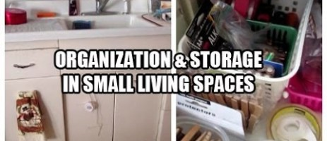 DIY Storage hacks and organization ideas for small houses with NO storage #diystorage #storagehacks #smallhouses #gettingorganizedathome #organizationideas