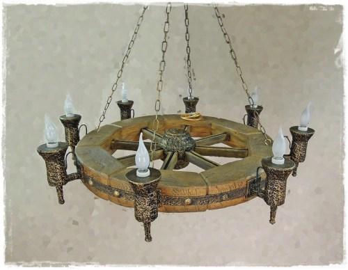 "Светильник под дерево: дизайн под старину (Светильник ""Квадрат"")"