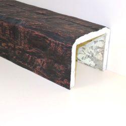 Декоративная балка Кантри 200x170 Рустик - 1.2 метра, Белый