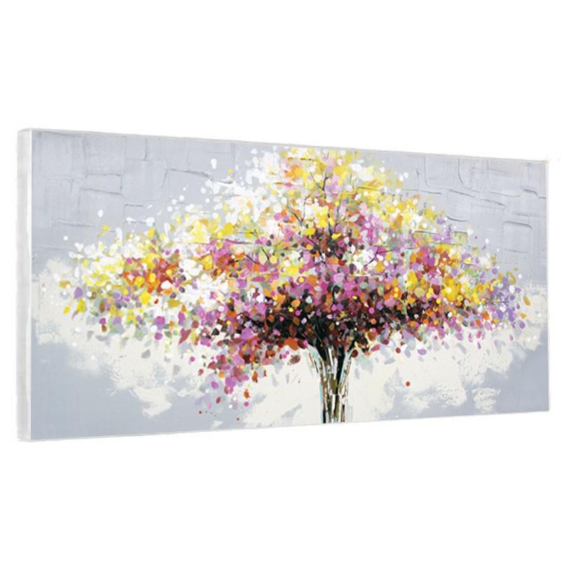 tableaux contemporains arbre colore granf format toile design