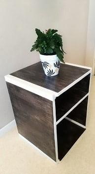 meuble de rangement cube polyvalent en bois original