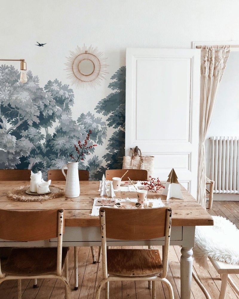 Papeles pintados para dar un aire nuevo a la decoración del comedor