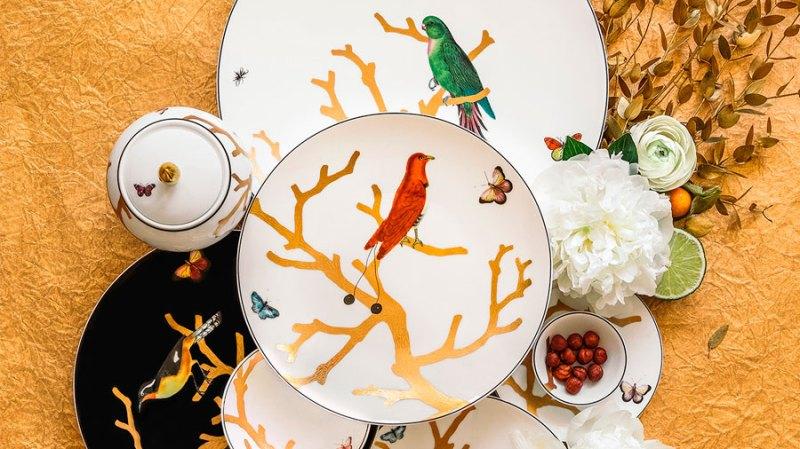 Platos decorados con animales