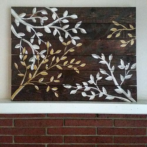 Upscale Tree Branch Reclaimed Wood Wall Art Project By
