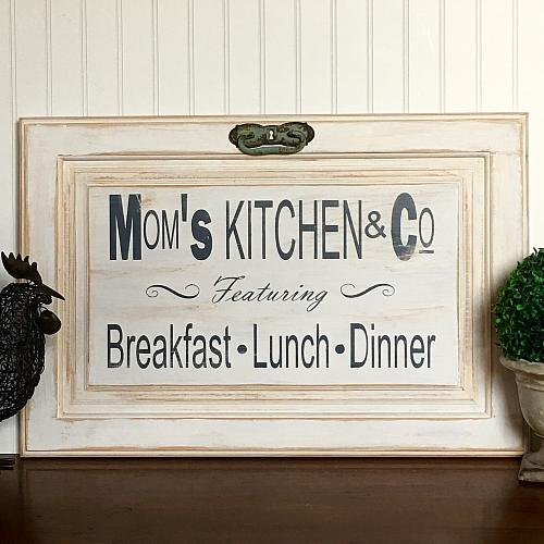 Moms Kitchen Amp Co Cabinet Door Sign Project By DecoArt