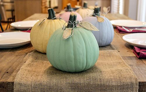 Chalky Finish Pastel Pumpkins Project By DecoArt