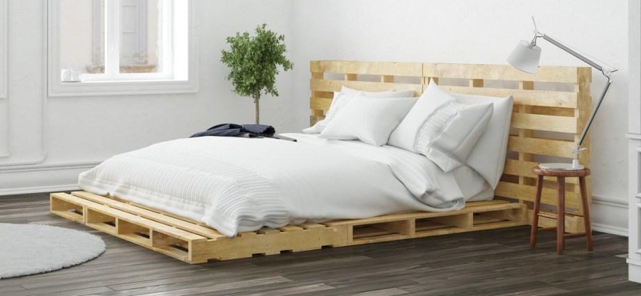łóżko Z Palet Skandynawskie Piękno Drewna Inicjator