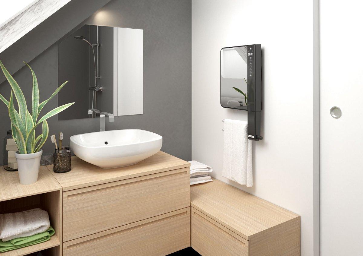 Telia 1800 W - grzejnik łazienkowy z lustrem