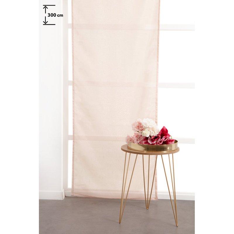 panneau japonais 60 x 300 cm a scratch grande hauteur fil lurex argente tisse uni rose clair
